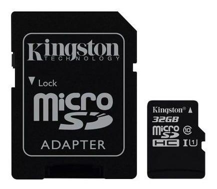 tarjeta micro sd 32gb kingston 80mb hd video  impowick