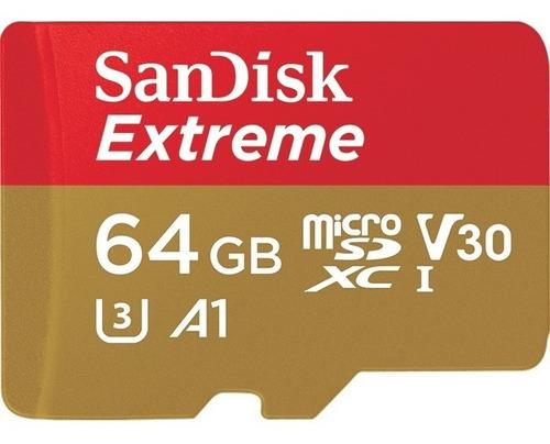 tarjeta micro sd 64gb extreme sandisk 100mb/s 4k envíogratis