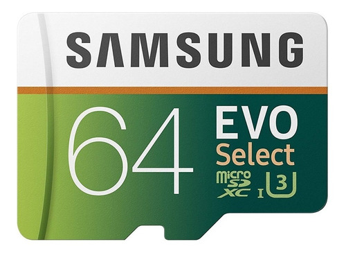 tarjeta micro sd samsung evo 64 gb u3 clase 10 4k + rapida