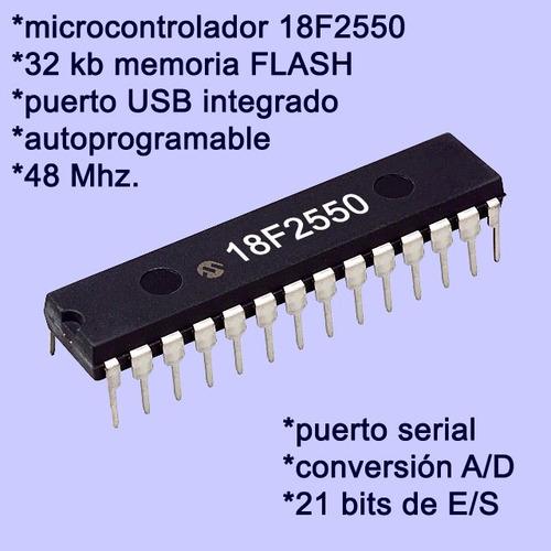 tarjeta microcontrolador entrenador pic18f2550 bolt 18f2550