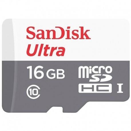 tarjeta microsd sandisk ultra 16gb 80 mb/s clase 10 original