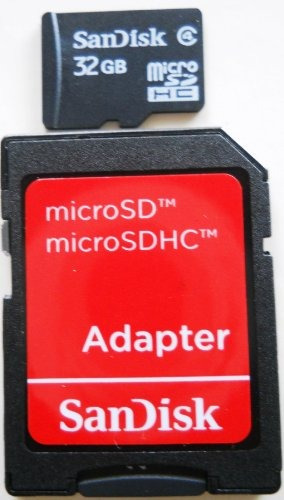 tarjeta microsdhc de 32 gb sandisk con adaptador sd y minisd