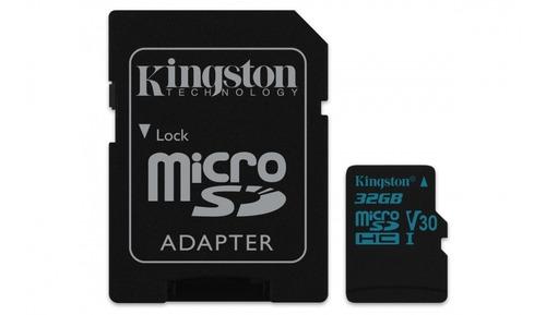 tarjeta microsdxc 32 gb kingston canvas go!, uhs-i clase 10