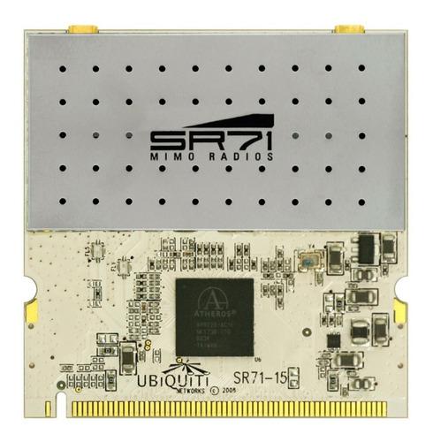 tarjeta minipci ubiquiti sr71-15 5ghz - 802.11a/n. mimo 2x2
