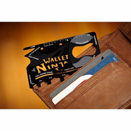 tarjeta multiherramienta ninja wallet 18 en 1 lote de 5 pzas