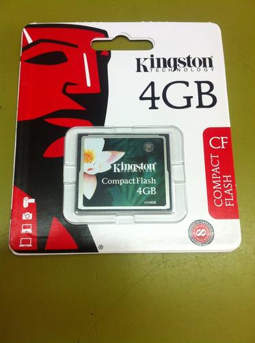 tarjeta o memoria compact flash kingston 4gb