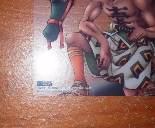 tarjeta one piece bandai crocodile color spread manga 547 jp