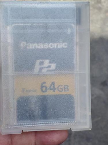 tarjeta panasonic p2 64gb y 32gb usadas en buen estado