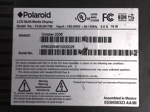 tarjeta pantalla polaroid flm-201t v20kcdd-u13 63t0975107000