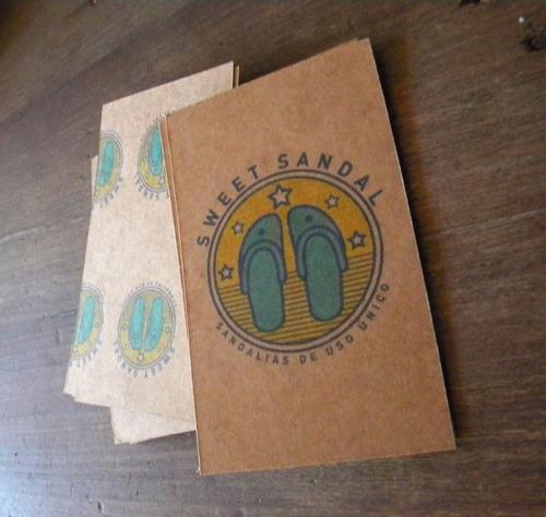 tarjeta papel kraft