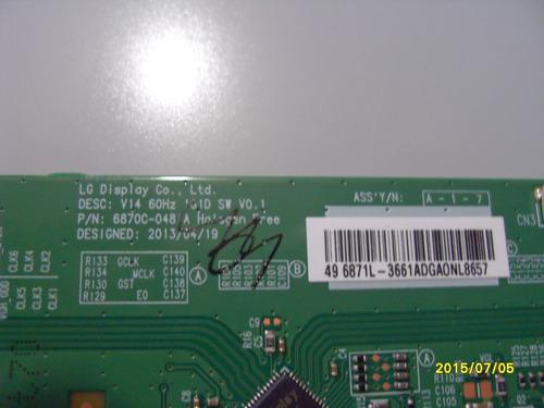 tarjeta para pantalla phillips 49pfl4709/08  v4 60hz 1g1 sw