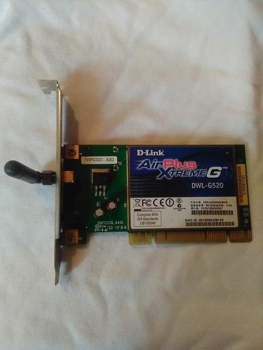 tarjeta pci d-link airplus xtreme g dwl-g520