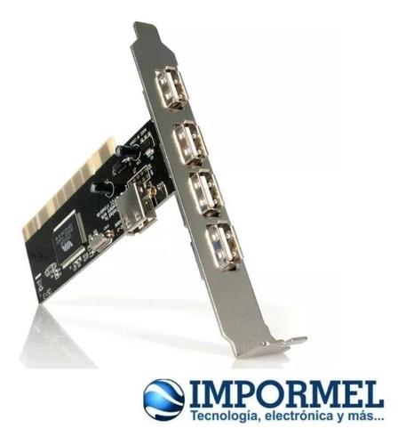 tarjeta pci de 4 + 1 puertos usb 2.0 para pc escritorio