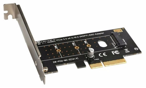 tarjeta pci-e x4 / x8/x16 para disco solido ssd m2 30 a 80mm