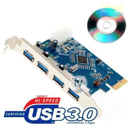 tarjeta pci expres de 4 puertos usb 3.0 + velocidad 5gbps