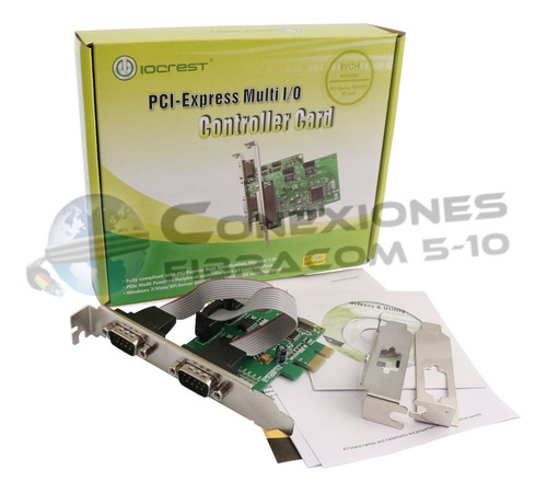 tarjeta pci express 2 puertos serial pci-e low profile sff