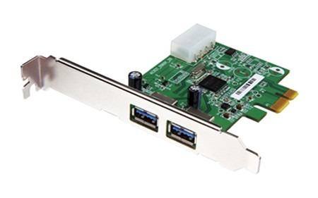 tarjeta pci-express interna hub con 2 puertos usb 3.0