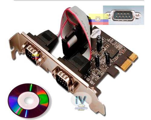 tarjeta pci express x1 de 2 puertos seriales rs-232 low prof