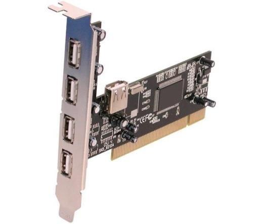 tarjeta pci interna hub con 5 puertos usb 2.0