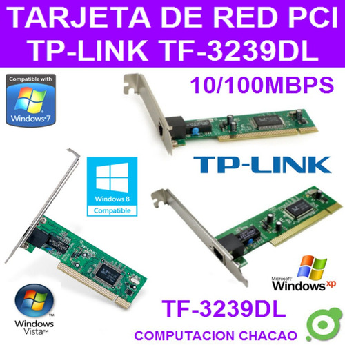tarjeta pci red lan tf-3239dl desktop pc 10/100 tp-link ccc