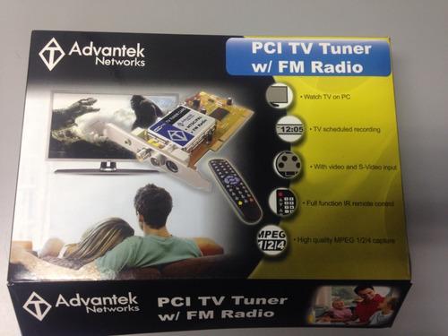 tarjeta pci tv tuner fm radio marca advantek nuevo