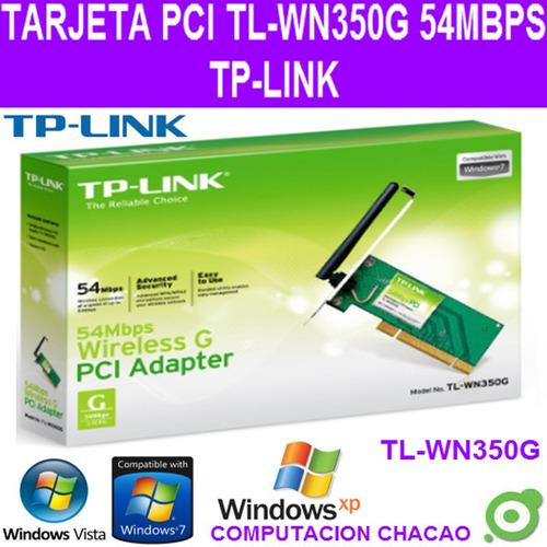 tarjeta pci wifi tl-wn350g tp-link 54 mbps g pc interno ccc
