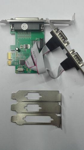 tarjeta pci xpress y pci de 2 puerto serial db9 y 1 paralelo