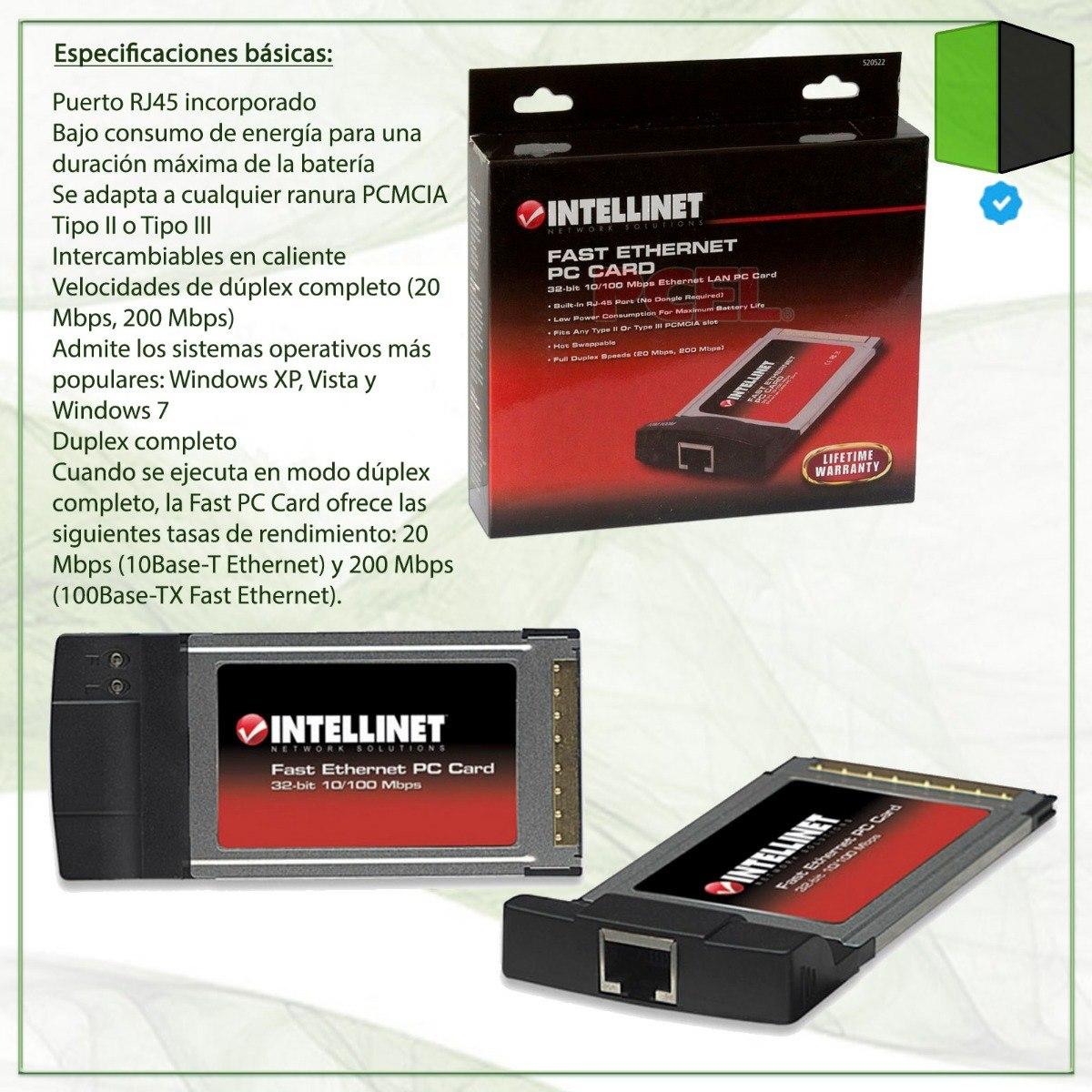 INTELLINET PCMCIA 10100 NETWORK CARD DRIVER