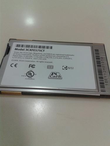 tarjeta pcmcia 3com de red lan 10/100 3cxfe575ct