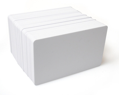 tarjeta plástica blanca impresoras de tarjetas pack x 100