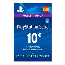 Tarjeta Playstation Network Psn Card 10 Euros- España