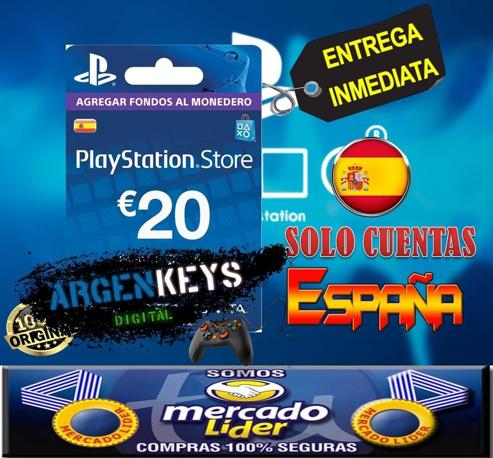Tarjeta Playstation Network Psn Card 20 Euros Espana 1 399 90
