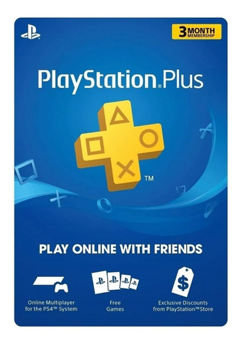 tarjeta playstation plus 3 meses psn network entrega digital
