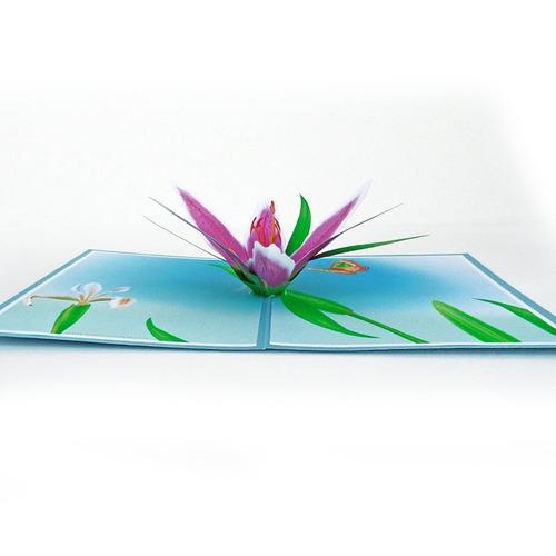 tarjeta pop up 3d  para regalo