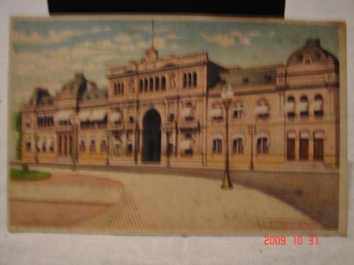 tarjeta postal antigua. casa de gobierno rep. argentina