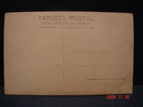 tarjeta postal antigua. fotopostal.