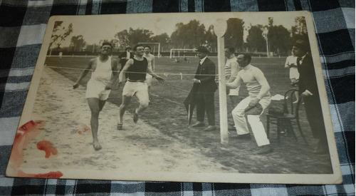 tarjeta postal atletas argentinos carrera 1923 postcard