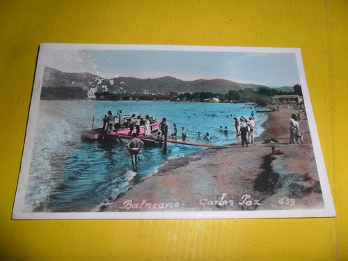 tarjeta postal balneario villa carlos paz cordoba