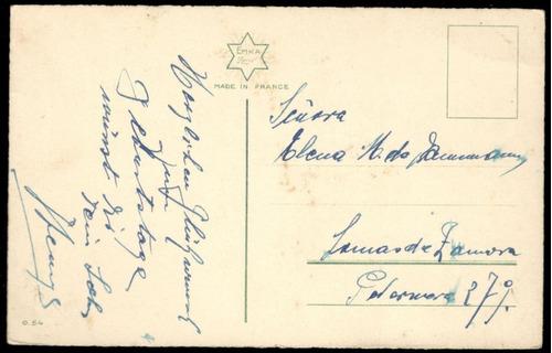 tarjeta postal · canasta con flores · emka 0.54