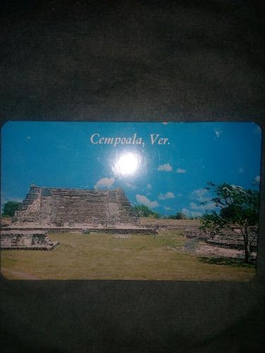 tarjeta postal cempoala veracruz templo chimeneas