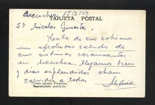 tarjeta postal cueva punta negra necochea buenos aires