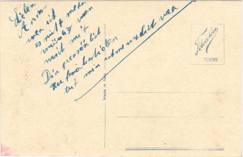 tarjeta postal · dama con margaritas · fotocelere 307/6