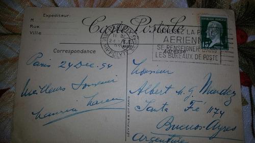 tarjeta postal de 1954
