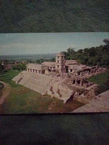 tarjeta postal el palacio desde el templo de las inscripcion