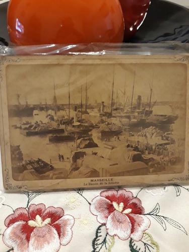 tarjeta postal en carton grueso.año 1869. marselle.