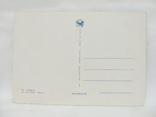 tarjeta postal jet