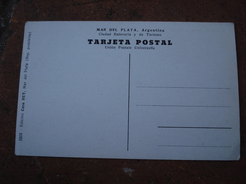 tarjeta postal mar del plata yacht club argentino