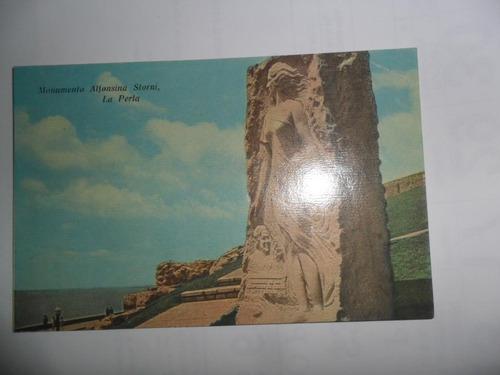 tarjeta postal monumento alfonsina storni la perla moroni