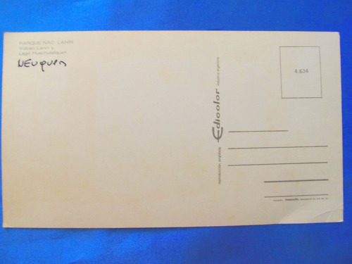 tarjeta postal parque