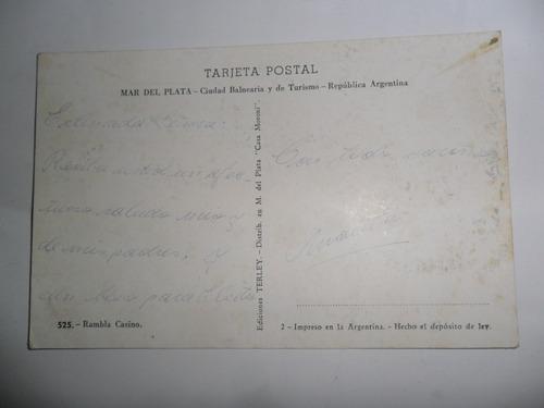 tarjeta postal rambla casino terley casa moroni lobo marino